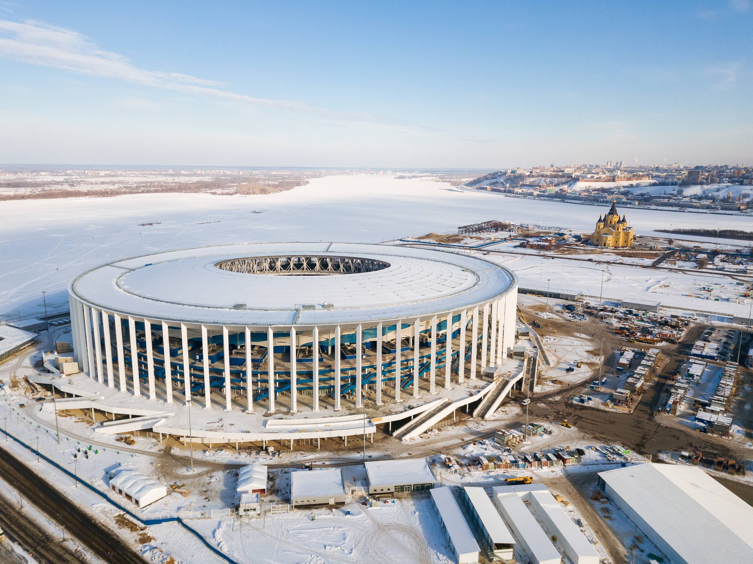 STADIUM IN NIZHNY NOVGOROD WAS PUT INTO OPERATION.